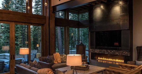 Lake Tahoe getaway features contemporary barn aesthetic