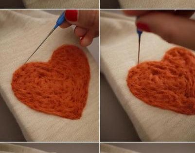 Wear your {Felted} Heart On Your Sleeve