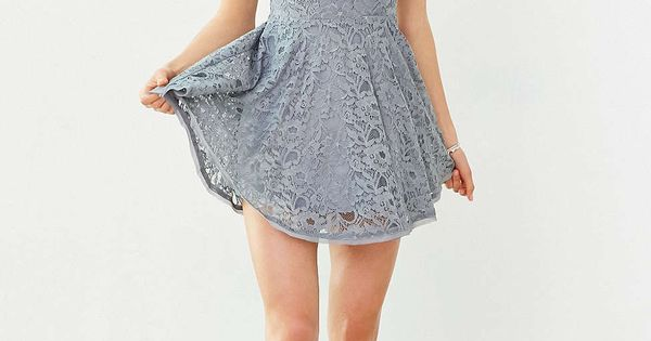 Kimchi blue lorraine high neck fit flare dress urban for Urban outfitters wedding dresses