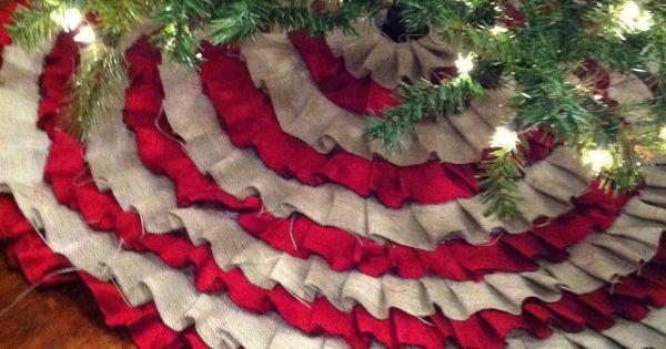 No sew ruffle burlap tree skirt