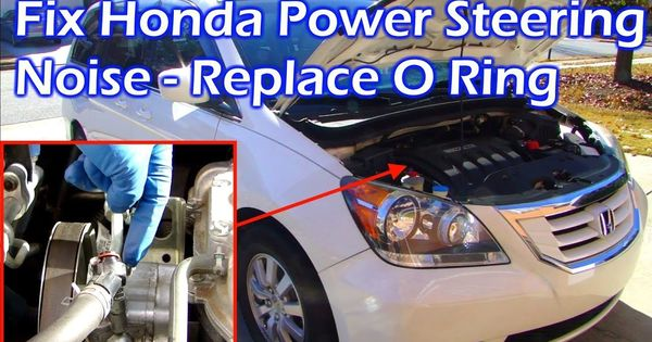 How To Fix Honda Power Steering Noise Replace Steering Pump O Ring Youtube Power Honda O Ring