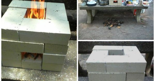 Diy brick rocket stove share your craft pinterest for Brick jet stove