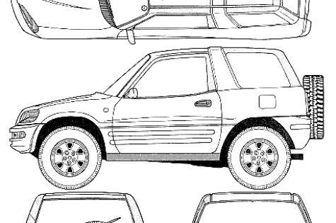 car blueprints    1996 toyota rav4 i 3