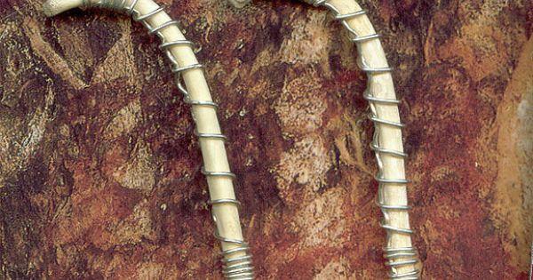 Fancy Silver Wrapped Raccoon Penis Bone Pendant Sterling
