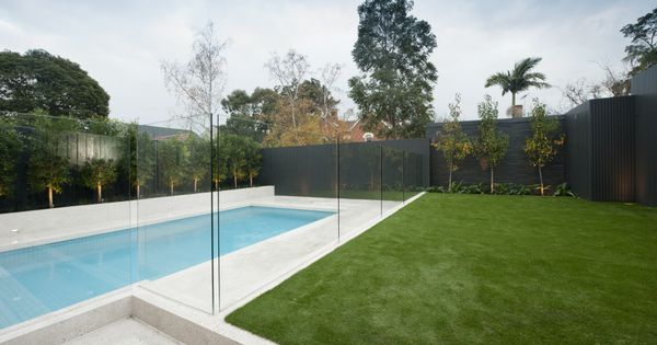Recessed Concrete Frameless Glass Pool Fence Stunning Pool Fences Pinterest Glass Pool