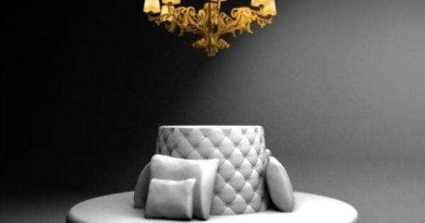 Sofa Lamp 3d Model Round With By 3devent