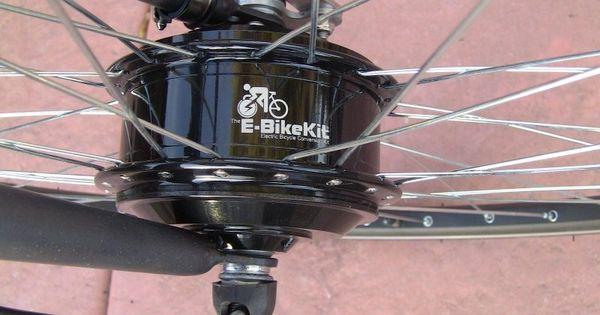Pin Di E Bike Kit Review 350 Watt Geared Front Hub Motor Lead Acid Battery