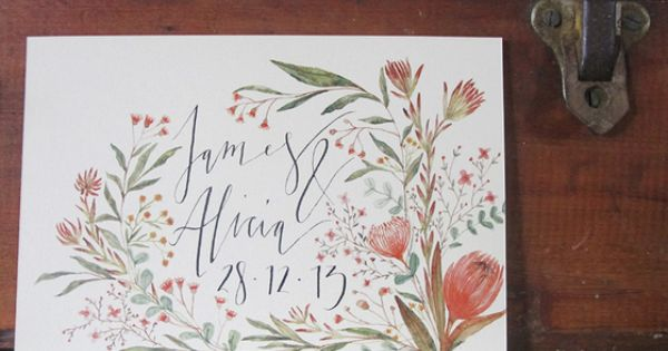 wedding invitation native australian - Google Search | Gorgeous Invitations | Pinterest | Native ...