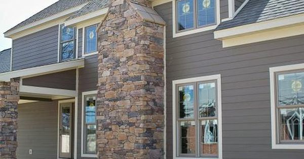 Timber Bark Siding And Navajo Beige Trim Exterior House