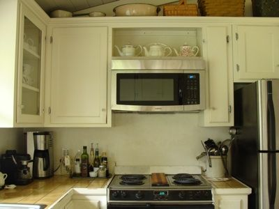 How To Retrofit A Cabinet For A Microwave An Oregon Cottage Microwave In Kitchen Microwave Cabinet Kitchen Renovation