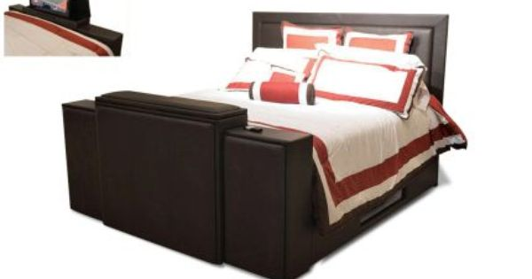 West Port Home King Bed With Tv Lift Tv Beds Bed Cheap Bed Sheets