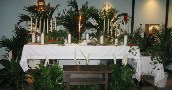 decorations for wedding ceremony holy thursday altar of repose set up in small chapel at 3434