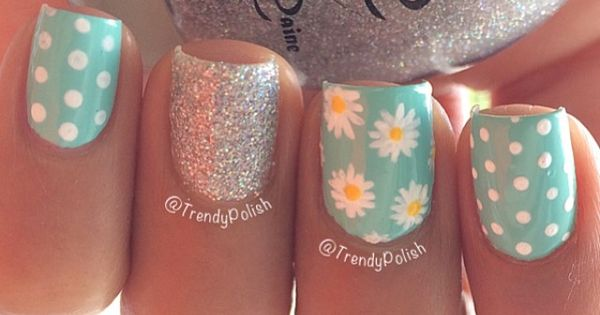 Flowers glitter and polka dots ===== Check out my Etsy store for
