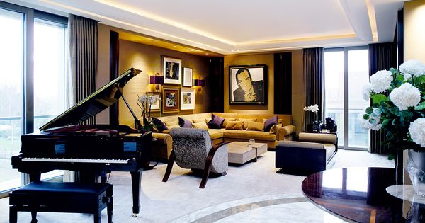 Luxurious Penthouse Dramatic Interior Luxury Penthouse Apartment London Keech Green Architectural