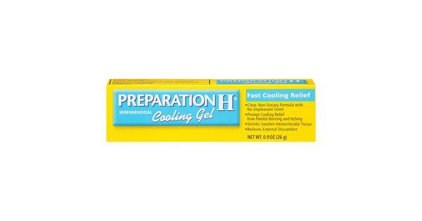 Preparation H Hemorrhoidal Cooling Gel 0 9oz Cure For