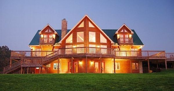 Nashville Area Luxury Log Home On Secluded 18 Acres