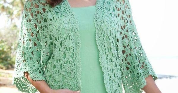 Crochet Patterns Explained : patterns: Dream of Summer - Crochet Free Lacy Cardigan Explained ...