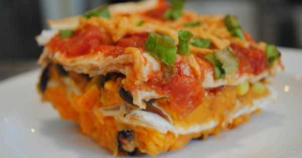 Vegan Sweet Potato Enchilada Casserole Yummsy!