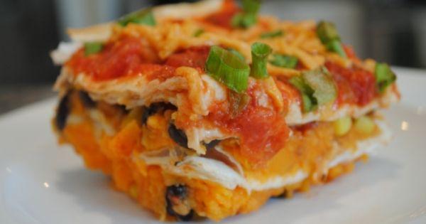 Vegan Sweet Potato Enchilada Casserole Yummsy!