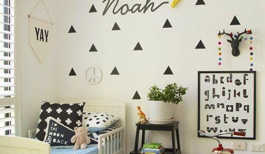 Noah's Graphic, Modern Abode — Kids Room Tour