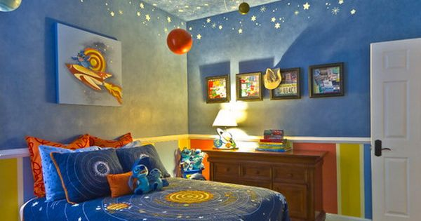 Single Wall Kids Room Decor: Kids Bedroom Best and Unique Airplane Decor