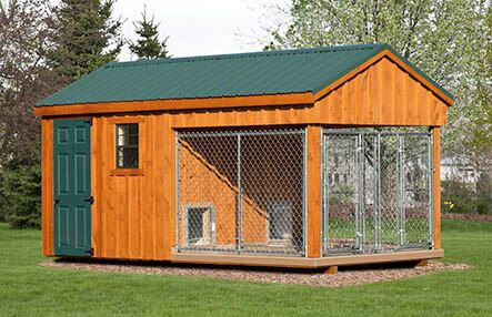 8x16 Standard Double Combo Double Dog House Dog House Diy Dog Kennel