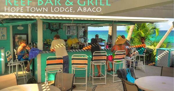 Reef Bar at the Hope Town Harbour Lodge on Elbow Cay ...