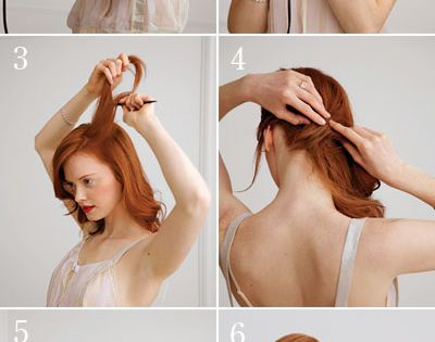 holiday hair how-to: the side chignon And I love her hair color!!