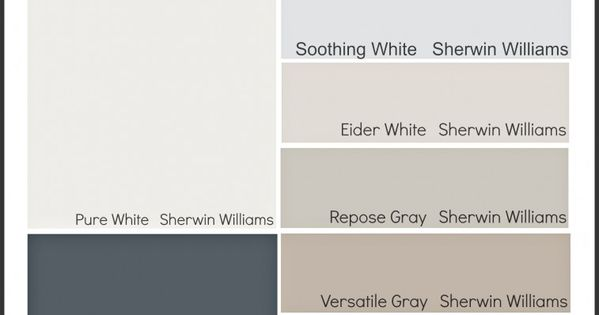 Sherwin Williams Outerspace Storm Cloud Jubilee Versatile Gray Repose Gray Eider White