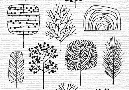 doodling: ways to draw tree patterns