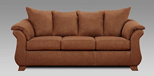 Roundhill Furniture Aruba Microfiber Pillow Back Sofa Chocolate