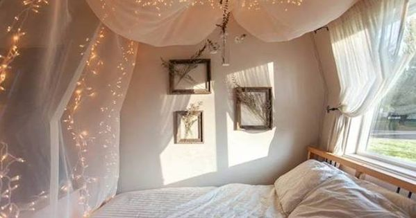 Christmas lights bedroom fairy light canopy.