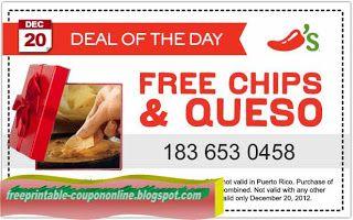 Free Printable Chili S Coupons Chilis Coupons Free Printable Coupons Chips And Salsa