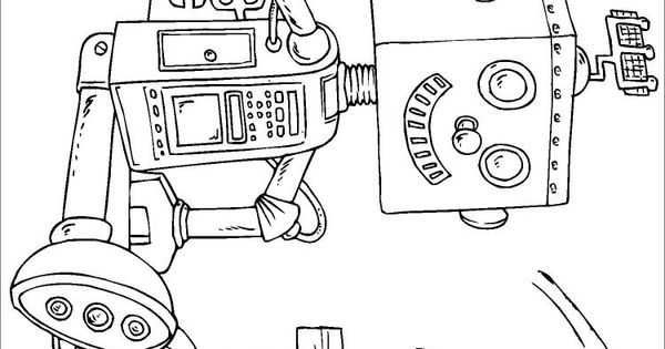 Coloring Page Toy Robot - Img 22820
