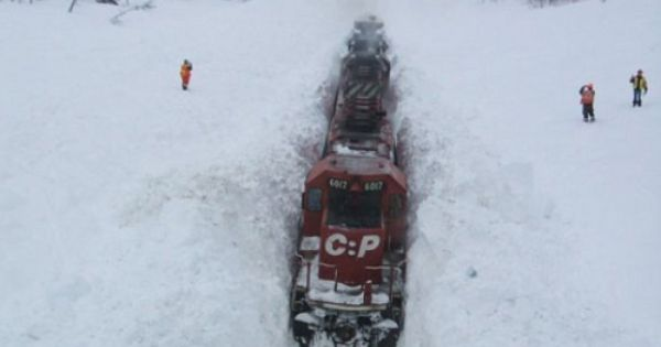 Ride on a snow train in beautiful British Columbia, Canada