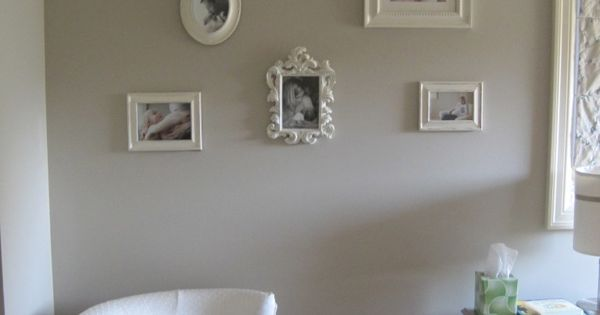 Gray And Cream Baby Girl S Nursery Benjamin Moore Paint