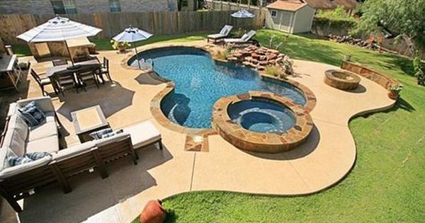 Austin Outdoor Living Photo Gallery Texas Pools Patios Freeform Pool With Spa Rock Waterfalls Sun Swimming Pools Backyard Backyard Pool Outdoor Living