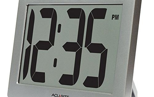 Acurite 75102 95 Large Digital Clock With 375 Digits And Intellitime Technology Read More Reviews Of The With Images Large Digital Clock Large Digital Wall Clock Clock