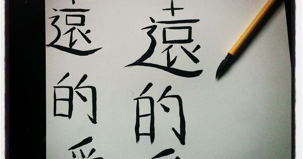 Learning Chinese Calligraphy The Characters Translate To