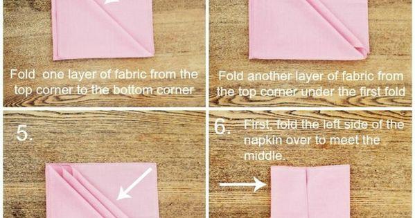 comment r aliser un pliage de serviette id es originales plier les serviettes les serviettes. Black Bedroom Furniture Sets. Home Design Ideas