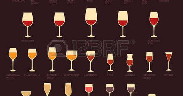 dessin verre de vin rouge et blanc vecteur verres vin et types de bouteilles alcool boisson. Black Bedroom Furniture Sets. Home Design Ideas
