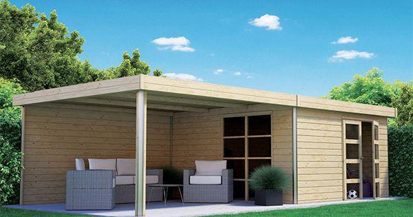 Abri de jardin en bois lindo xl pergola ep 28 mm 14 for Pavillon de jardin moderne