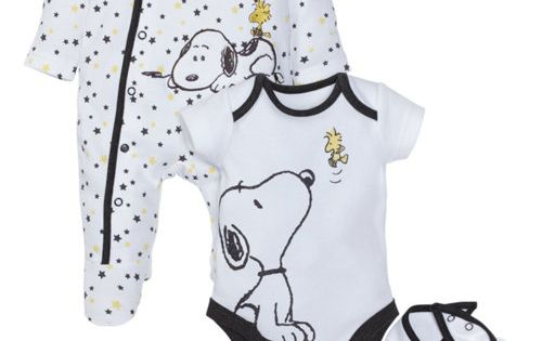 Snoopy Three Piece Set Baby Newborn 12 Mths Clothing