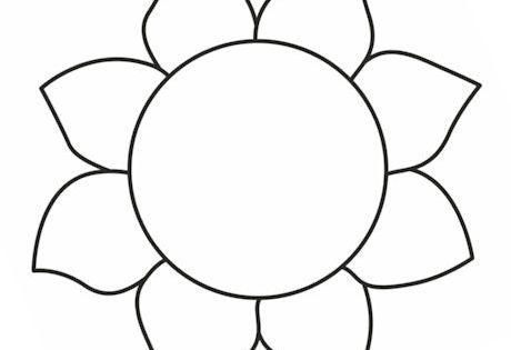 Sunflower template 2 | Housey Stuff | Pinterest | Sunflowers