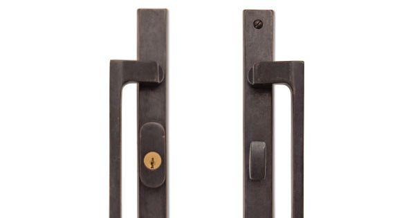 Dunn Handle On Urban Escutcheon Dark Bronze Ashley Norton For Marvin Sliding Patio Door Or Marvin Ultimate Slidi Sliding Door Hardware Marvin Doors Hardware