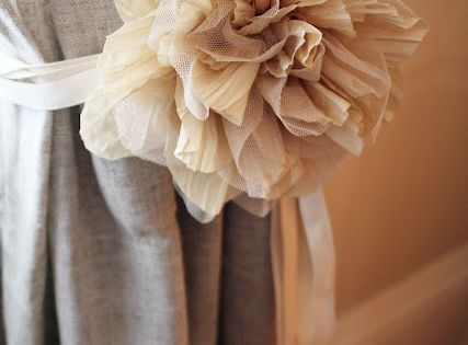 Cute idea for curtain tie backs
