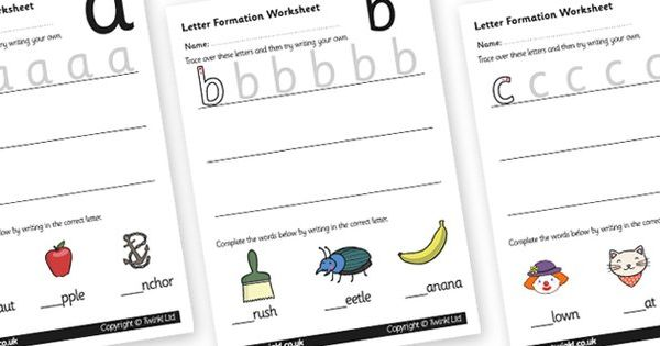 Letter Formation Worksheets az Handwriting letter formation – Letter Formation Worksheets