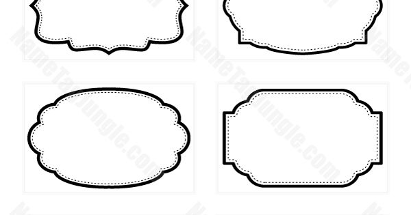 free printable fancy name tags the template can also be. Black Bedroom Furniture Sets. Home Design Ideas