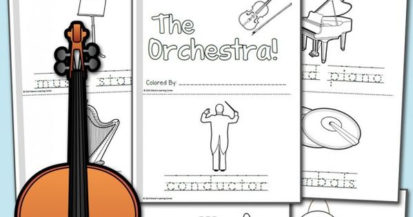 Orchestra Coloring Pages Coloring Orchestra and