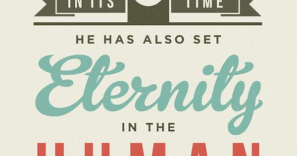 High quality typographic designs of verses from the Bible.